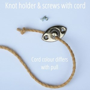 glass ring blind pull  - clear cord